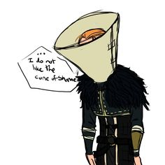 """You should have thought of that earlier, Anders!"" ROTFL Anders - cone of shame by ~rabbitzoro on deviantART"