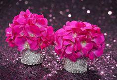 Hot Pink Hydrangeas and BLING!- Preston Bailey Event Design