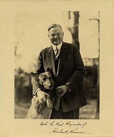 Now only four weeks till the election. To tide you over until voting day, here is one of our former presidents, Herbert Hoover, in his campaign photo with soon-to-be first dog King Tut.  Herbert Hoover and his dog 'King Tut', 1928 / Theodore Horydczak, photographer. Benson Bond Moore papers, Archives of American Art, Smithsonian Institution.