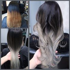 Hair By Lily - San Jose, CA, Estados Unidos. My client travels from La for me to correct this took us 3 American tailoring .Super healthy still. Frontal Hairstyles, Ombre Hair Color, Gray Ombre, Hair Highlights, Silver Hair, Balayage Hair, Gorgeous Hair, Hair Looks, Dyed Hair
