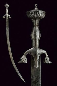 Afghanistan pulwar with characteristic downturned quillons, 19th century.