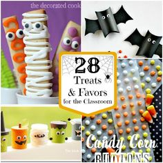 Today I'm sharing a ton of great ideas for Halloween Treats that are perfect for your little ones friends at school, or if your throwing a kid friendly Halloween bash these would be great favors for the kiddos. There is a mix of sweet treats, and non-food or candy treats for them. Although I will …
