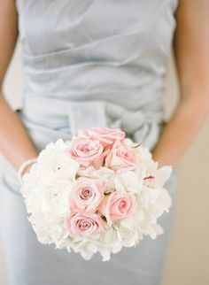 pink and white #bouquet | KT Merry