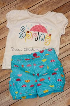 Spring Bubble Shorts Set by SweetOklahomaDesigns on Etsy, $43.00