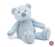Wat vind je van deze lieve blauwe berenknuffel van Jellycat?