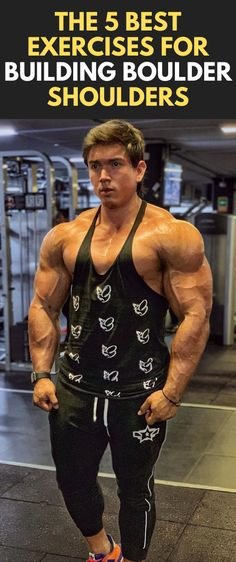 The 5 Best Exercises For Building Boulder Shoulders Shoulder Muscles Workout, Shoulder Workout Women, Shoulder Workouts For Men, Shoulder Workout At Home, Shoulder Workout Bodybuilding, Bodybuilding Workout Plan, Muscle Fitness, Mens Fitness, Deltoid Workout