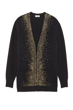 """This would become my """"go-to"""" cardigan - think of scarves going with it too.   Saint Laurent Oversized Milky Way V-Neck Cardigan, $1,850; ysl.com   50 Best Sweaters For 2016 Fall - Warm Sweaters for Fall and Winter from Elle"""
