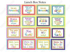 Lots of printable lunch box notes here. Fun to add to planners or include in notes to friends!