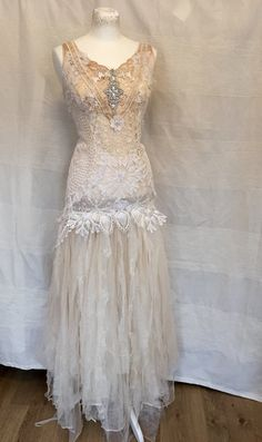 Fairytale wedding dressboho bridal by RAWRAGSbyPK on Etsy