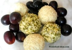 Gourmet cheeseball wrapped grapes or olives. Would be a great appetizer for a wine tasting! (Make for guests)