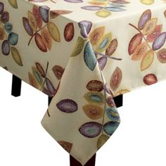 Croscill Mosaic Leaves Tablecloth - BedBathandBeyond.com