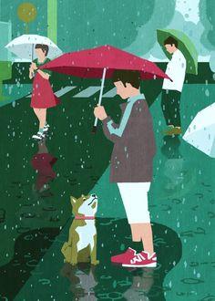 (111) Inoreader - 遊走城市的柴犬身影