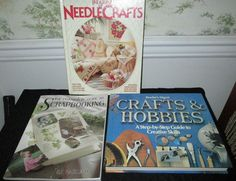 Lot of 3 Books Treasury Of Needle Crafts Guide Scrapbooking Crafts And Hobbies