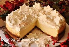 Eggnog Cheesecake - Holidays