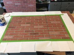 Faux Brick Wall with Ad - Sawdust 2 Stitches Faux Brick Panels, Brick Paneling, Brick Walls, Best Tv Wall Mount, Hanging Tv, Home Movies, Wall Mounted Tv, Wall Treatments, Modern Wall