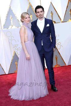 Oscars 2017: La elegancia de la alfombra roja - Damien Chazelle y Olivia Hamilton