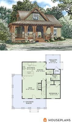 craftsman cottage plan 1300sft 3br 2 ba plan 17 2450 i want - Small Cottage Plans