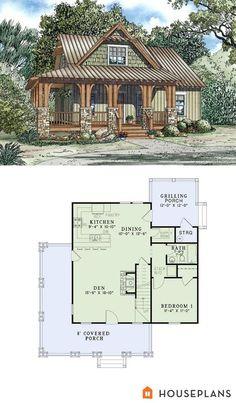 craftsman cottage plan 1300sft 3br 2 ba plan #17-2450 I WANT