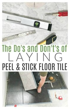 What I&;ve learned about Peel and Stick Tile {Vlog Part 2 &; DIY Passion What I&;ve learned about Peel and Stick Tile {Vlog Part 2 &; […] Flooring peel and stick Diy Flooring, Diy Bathroom, Tile Floor, Home Improvement, Stick On Tiles, Peel And Stick Floor, Vinyl Tile, Peel And Stick Tile, Flooring