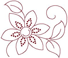 Simple Embroidery Flower | simple and quick floral embellishment by Cheryl Fall for that now ...