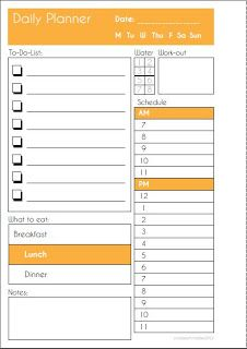 Free Daily Planner Printable {available in 8 different colors}