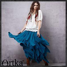 Многослойная юбка-сарафан на кокетке-резинке