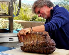 Steven Raichlen& two-step method, debuted on Project Smoke, is the ultimate way to cook prime rib, also known as a standing rib roast. Get the recipe. Prim Rib Roast, Beef Rib Roast, Rib Roast Recipe, Prime Rib Recipe, Beef Ribs, Prime Rib Steak, Smoked Prime Rib, Barbecue Ribs, Bbq Beef