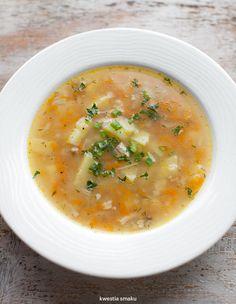 Krupnik Healthy Soup Recipes, Baby Food Recipes, Polish Recipes, Polish Food, Some Recipe, Soups And Stews, I Foods, Food Porn, Good Food
