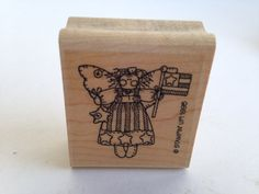 Fourth of July Angel - Country Style - Flag Vintage Rubber Stamp - Card Making - Crafts  161222 by SirStampinton