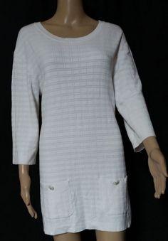 #twitter#tumbrl#instagram#avito#ebay#yandex#facebook #whatsapp#google#fashion#icq#skype#dailymail#avito.ru#nytimes #i_love_ny #cnn # BBCBreaking #  BBCWorld #  cnnbrk # nytimes # globaltimesnews #  CHANEL   White Cotton Textured Knit Keyhole  vintage   #CHANEL #Tunic