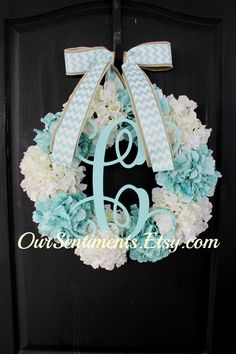 Hey, I found this really awesome Etsy listing at https://www.etsy.com/listing/227611370/floral-door-wreath-spring-wreath-blue