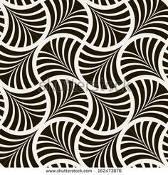Seamless pattern. Stylish ornament. Geometric background. Vector repeating texture by Curly Pat, via Shutterstock