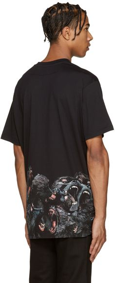Givenchy: Black Monkey T-Shirt | SSENSE