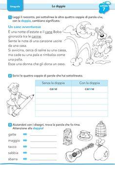 Social Service Jobs, Social Services, Primary School, Pre School, Italian Courses, Italian Lessons, Italian Words, Reading Worksheets, Italian Language
