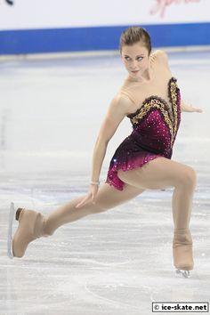 Ashley Wagner -Pink Figure Skating / Ice Skating dress inspiration for Sk8 Gr8 Designs.