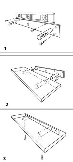 how to make floating shelves - Google Search