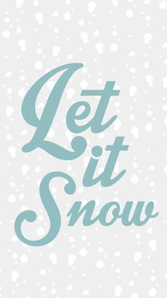 Let it snow wallpaper ★ Download more winter themed iPhone Wallpapers at @prettywallpaper