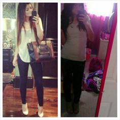 My Kylie Jenner inspired outfit♥ What I wore: ~Forever 21 nude top ~Vans black pants ~Mia nude heels  ~Love necklace