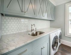 The Little-Known Secrets to Laundry Room Design Ideas There are lots of design ideas in the post basement laundry room which you are able to find, you will see ideas in the gallery. Therefore, if you're searching for design suggestions… Continue Reading → Mudroom Laundry Room, Laundry Room Remodel, Laundry Room Cabinets, Laundry Room Island, Blue Kitchen Island, Laundry Room Countertop, Laundry Storage, Room Tiles Design, Laundry Room Design