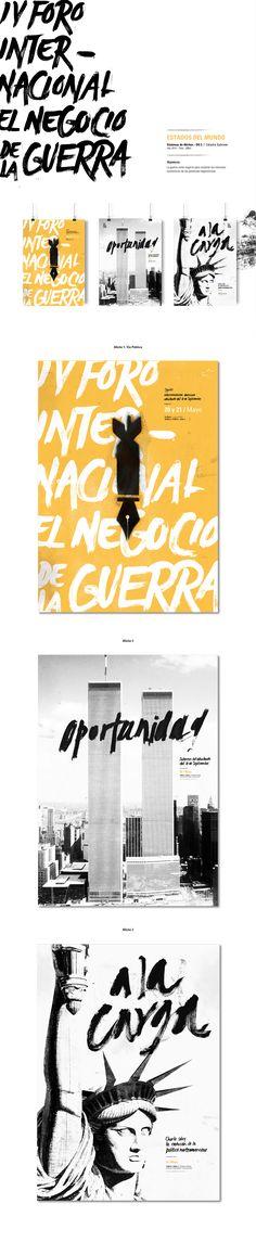 Sistema de Afiches realizados para la Cátedra Gabriele de la materia Diseño 3 - Año 2014