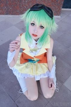 apricot jam — Cosplayed Gumi Megpoid from Vocaloid at the first...