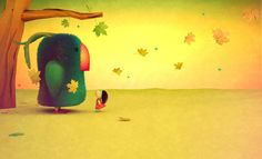 Climbing the morning (unpublished Children's illustration) by Gabriela Thiery, via Behance