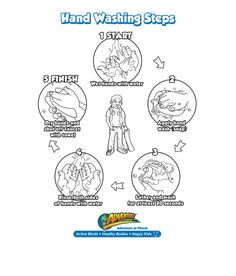 Hang this printable by the sink to help your kids keep germs at bay and cleanliness on their minds.