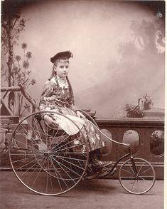 Velocipede girl. by Mirror Image Gallery, via Flickr