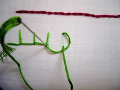 Blanket stitch - borders/edging  insert the needle where you'll want the bottom of the blanketstitch to be and pull it up through the fabric.  reinsert the needle up and right of your current position. Where you insert it will depend on how tall and far apart you want the stitches to be.  have the needle reemerge so that it lines up with where you put the needle through the last time.  make sure the floss between the fabric and thread is under the needle.  pull the floss through!  to end…