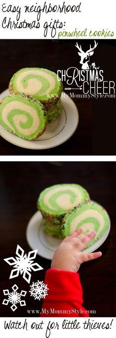 Pinwheel cookies for neighbor gifts...
