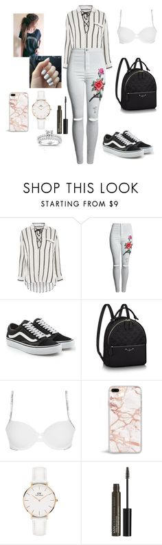 """WOMAN SCHOOL"" by reka15 on Polyvore featuring Glamorous, Vans, Calvin Klein Underwear, Daniel Wellington, NYX and Annello"