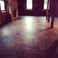 Chevron Pattern Floor Pre Opening, Hardwood Floors, Flooring, Floor Patterns, Chevron, Crafts, Decor, Wood Floor Tiles, Wood Flooring