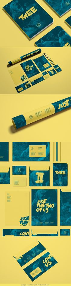 logo corporate branding visual graphic identity twee design business card letterpress sticker colors duotone minimal
