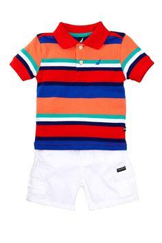Striped Polo Shirt & Short Set (Baby Boys) by Nautica on @nordstrom_rack